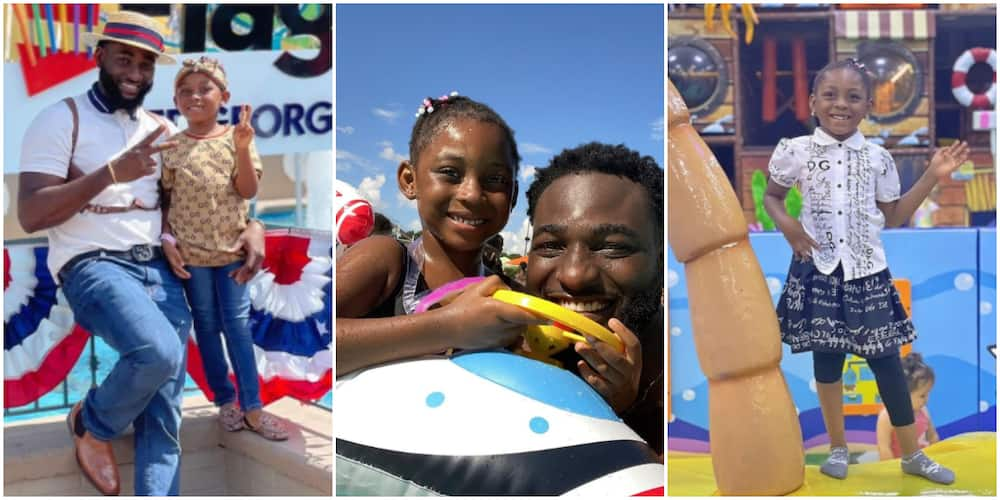 Gbenro Ajibade with his daughter