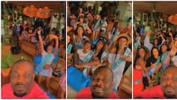 Contestants of most beautiful girl in Nigeria excited as Don Jazzy visits, whine waists to Ayra Starr's song in fun video