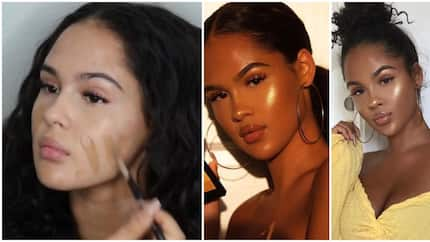 I get deep tan - Beautiful 19-year-old white model who was accused of 'posing as a black woman' says