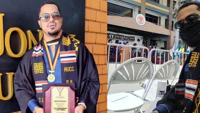 Van Vicker: Actor completes university as best student 26 years after completing secondary school, photos drop