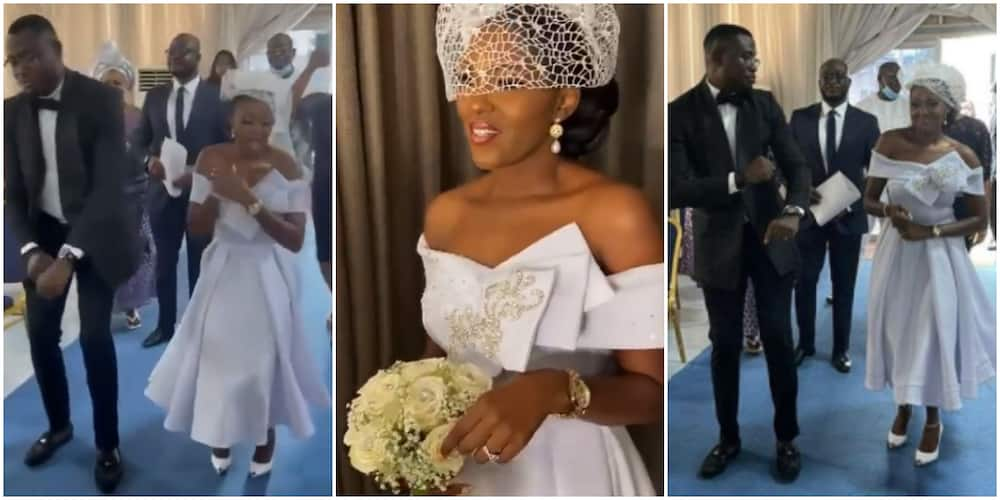 Becoming Mrs: Actress Biola Adebayo Shares Beautiful Video as She Walks Down the Aisle With Lover