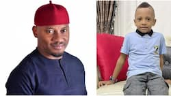 Actor Yul Edochie celebrates cute lookalike son with adorable photo as he clocks 4