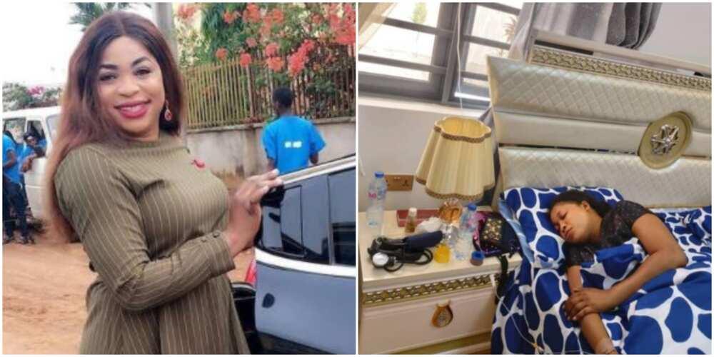 Actress Kemi Afolabi breaks down after successful housewarming party (photo)
