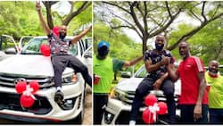 Fan gifts BBNaija's Tochi brand new Toyota SUV days after troll called him a failure for not owning a car
