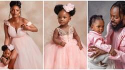 Too cute: Simi, Adekunle Gold share stunning new photos as they mark Deja's first birthday