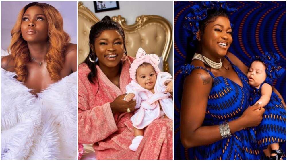 BBNaija fans gush over photos of housemate Ka3na and her beautiful daughter