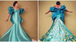 Kemi Olunloyo marks 57th birthday in peacock-inspired look, shares photos