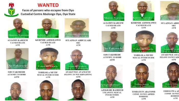 Jailbreak: Correctional Service releases names, images of 122 inmates who escaped from Oyo