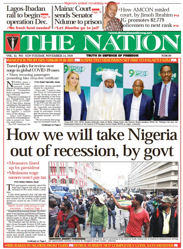 Nigerian Newspapers review for Tue, Nov 24