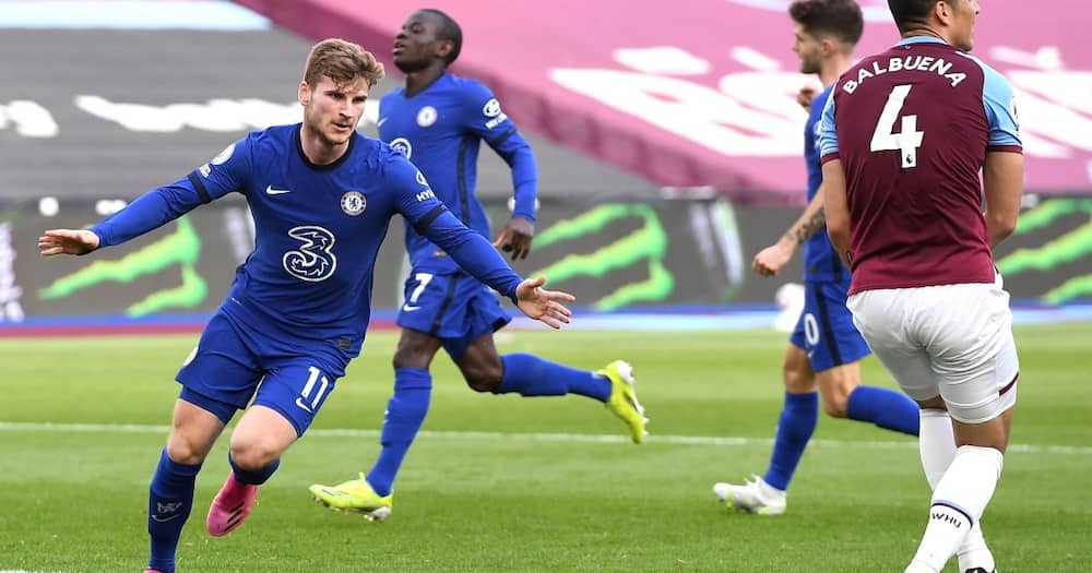 Timo Werner Scores as Chelsea Sink West Ham 1-0 to Spring Back to 4th Place