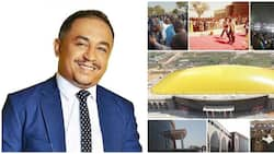 Daddy Freeze reacts to dedication of world's largest church auditorium located in Abuja (photos)