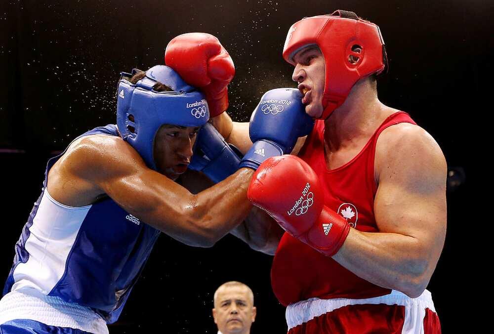 Tony Yoka dans un combat aux jeux olympiques
