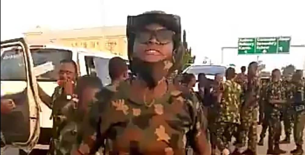 Newly-recruited female soldiers vow to deal ruthlessly with civilians