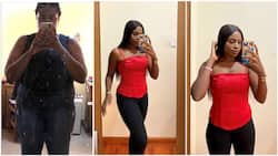How is this possible? Nigerian lady who never used the gym sheds 40kg in 8 months, many react (photos)