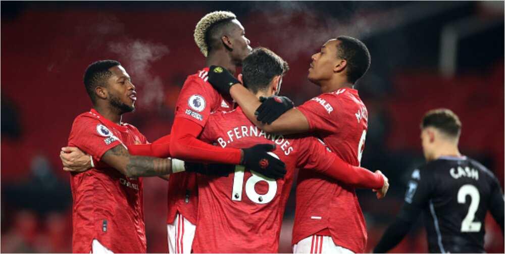 Man United vs Aston Villa: Martial, Fernandes score as Red Devils win 2-1