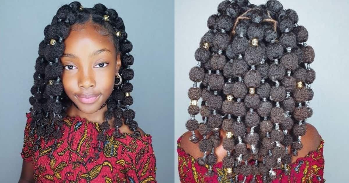 Stunning black girl in uncommon hairstyle causes massive stir online
