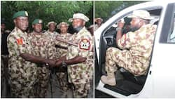 General Yahaya issues brand new vehicle to RSM of Nigerian Army
