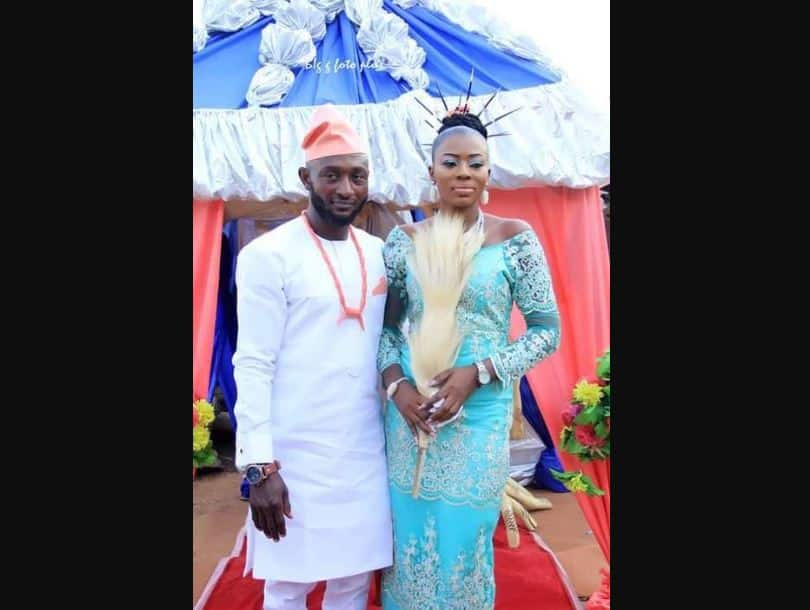 Nigerian man dies a day before wedding, buried on wedding day (photos)