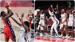 Nigeria's female basketball team suffers narrow loss to US after putting up a good fight in Tokyo 2020 Olympics