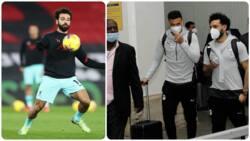 Liverpool star Mo Salah gets 4 bodyguards after arriving Nairobi for Egypt vs Kenya's AFCON 2022 qualifier