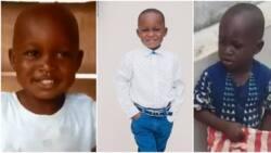 Actress Funke Akindele updates fans on progress of young boy Taju who went viral months back (photos)