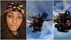 Actress Kate Henshaw smashes her bucket list as she goes skydiving in Dubai (video)