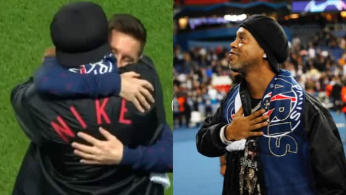 Ronaldinho Makes Return to PSG, Shares Warm Moment with Former Teammate Lionel Messi