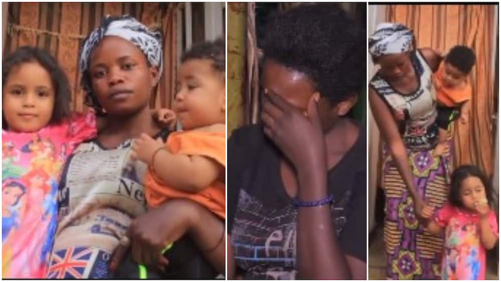 My two white husbands abandon me with kids - Woman shares hearbreaking story in trending video