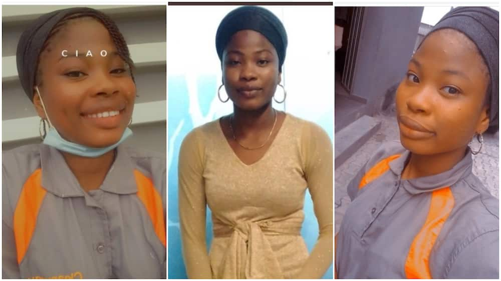 There was no money at home so I became a cleaner to save for university - Nigerian lady finally speaks