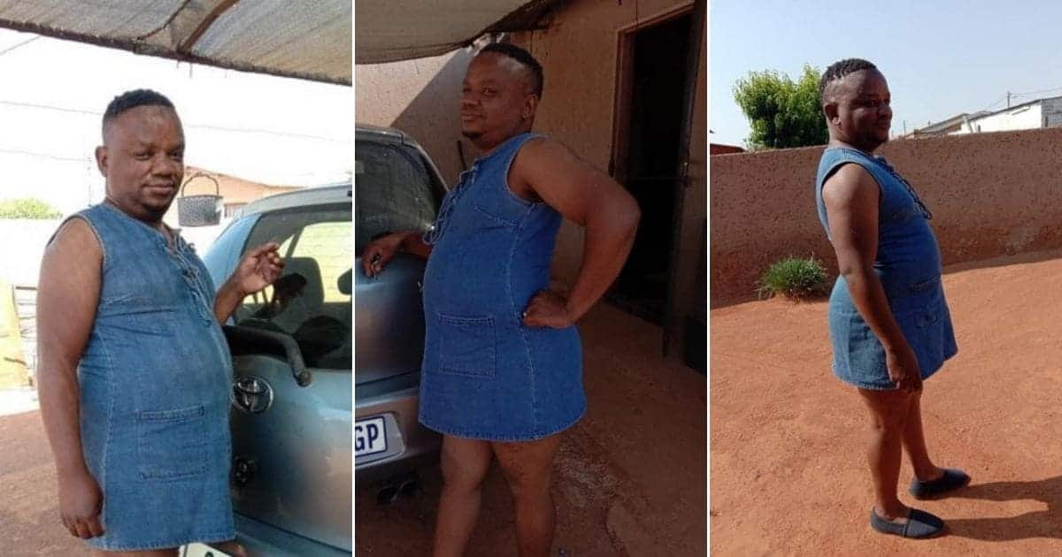 Man leaves social media users confused as he rocks female dress, photos go viral