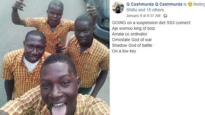 Suspension diet - Lagos school students say as they celebrate being suspended, Nigerians react