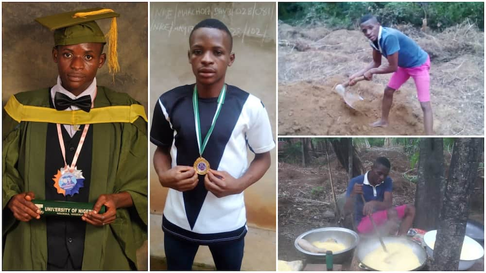 The young graduate is farming his way out of hunger. Photo source: TheDreamBook