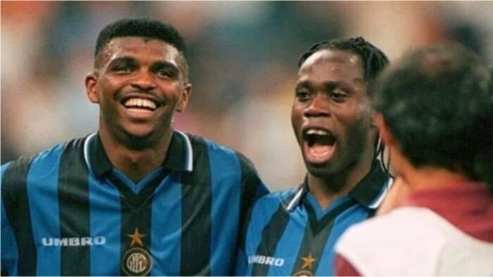 Epic 1997 throwback photo of legendary Kanu Nwankwo and Taribo West at Inter Milan surfaces online