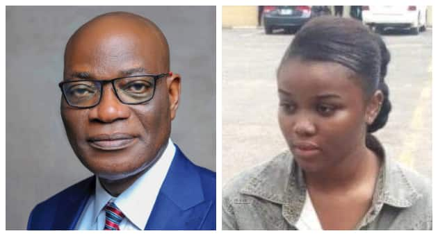 Separate photos of UNILAG VC and Chidinma