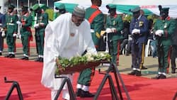 Armed Forces Remembrance Day: Buhari, Saraki, others lay wreath for fallen heroes (photos)