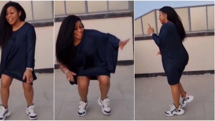 Rita Dominic gets TikTok fans gushing as she shows off legwork in popular challenge