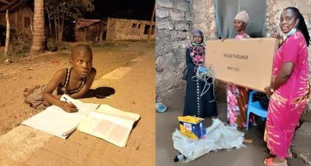 Boy who used street light to do his homework gifted full solar system, inverter