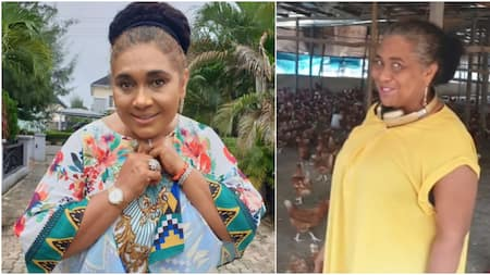 My birds are ready for Christmas: Hilda Dokubo reveals as she proudly flaunts massive poultry