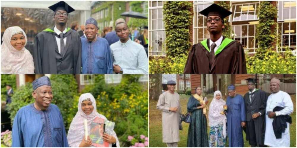 Governor Umar Ganduje and his family