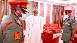 Buhari's new Aide-De-Camp resumes as ex-ADC proceeds on promotion course