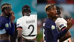 Chelsea star involved in off-the-ball incident with Man United midfielder Pogba during France vs Germany