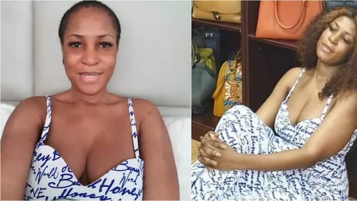 Linda Ikeji goes without wig, shows cleavage in new makeup free photo