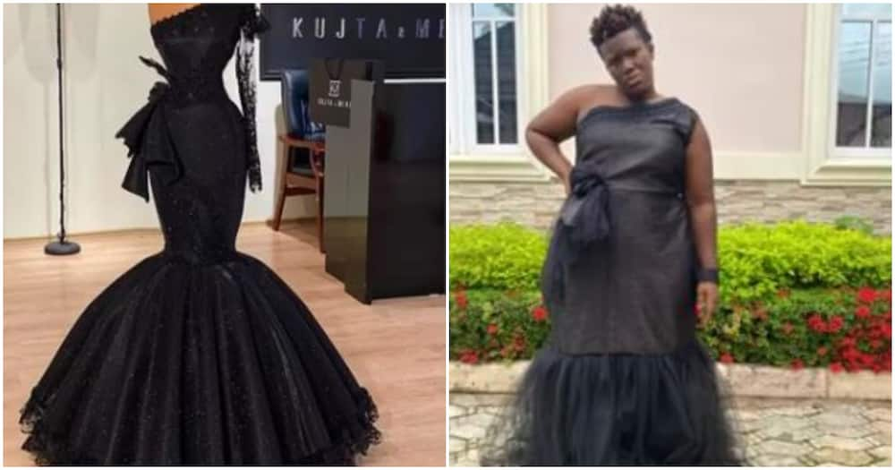 Comedienne Real Warri Pikin complains about outfit she got after supporting a designer's business (video)