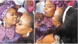 Queen Salawa Abeni passes out as anonymous fan gives her 2019 Nissan Rouge car at Lagos event