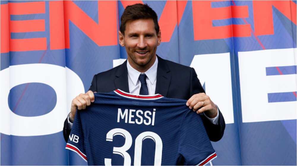 Super Eagles legend Jay Jay Okocha shares stunning statement after meeting Lionel Messi in PSG