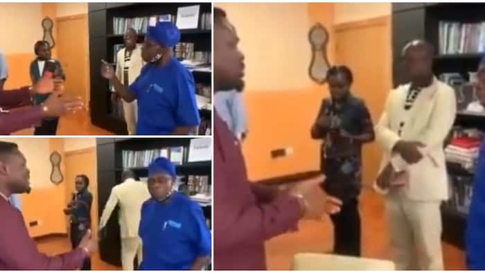 Massive reactions as old video shows how Obasanjo interacted with a journalist, his style wows many