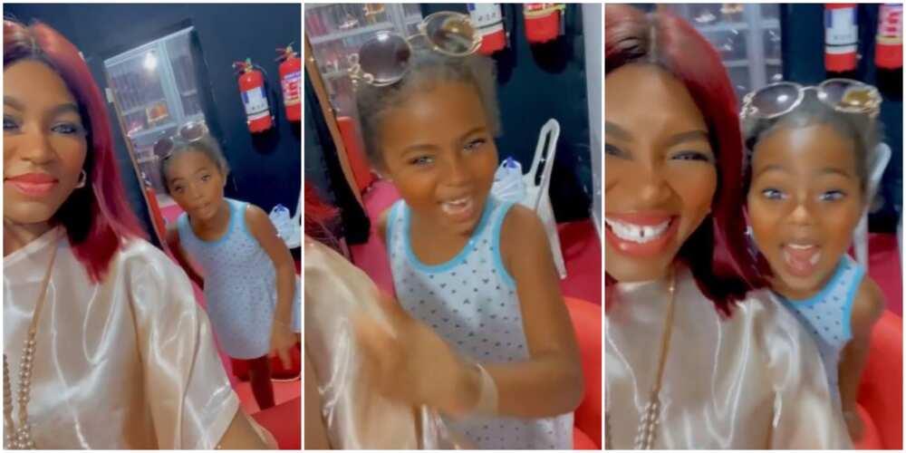 'Fun Mi the Phone': Actress Ufuoma Mcdermott's Daughter Tries to Speak Yoruba in Funny Video