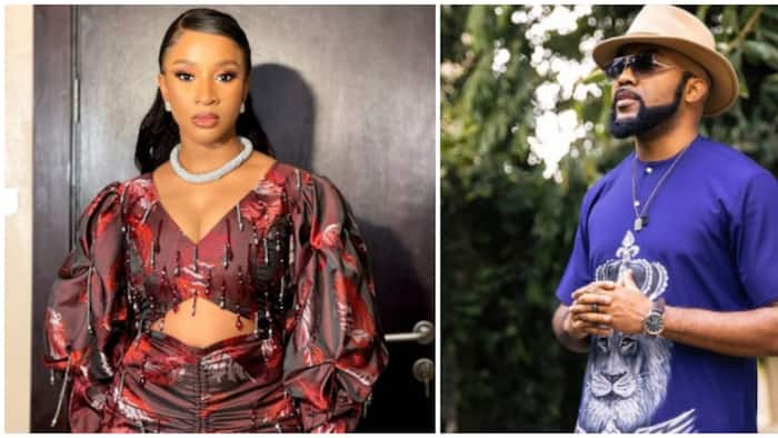 Banky W reacts to wife Adesua Etomi's stunning new photos with hilarious comment