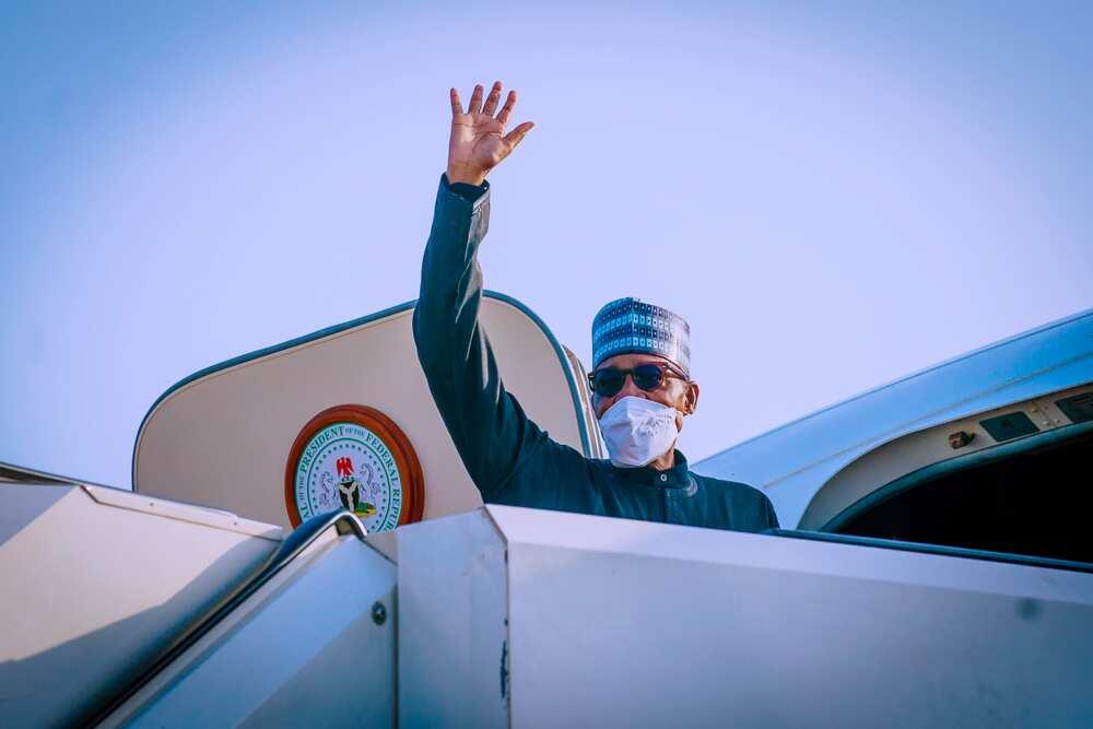 Hotunan tafiyar shugaba Buhari zuwa kasar Amurka domin halartar taro