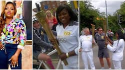 Actress Funke Akindele shares epic throwback photos of when she was an Olympic torchbearer in 2012